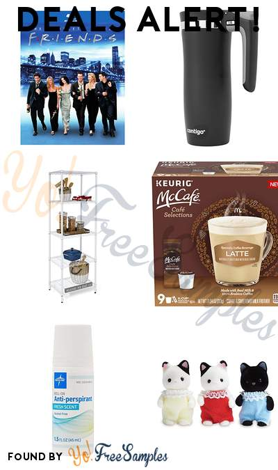 DEALS ALERT: Friends: The Complete Series Collection, Contigo Handled Travel Mug, Honey-Can-Do 5-Tier Shelving Unit, McCafe Cafe Selections Latte Coffee Keurig K Cup Pods & More