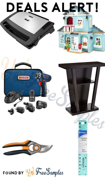 DEALS ALERT: Bella PRO Contact Grill, Mega Bloks American Girl Grace's 2-in-1 Buildable Home, Bosch Cordless Electric Screwdriver Kit, Console Entry Table & More