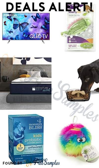 DEALS ALERT: Samsung 65″ QLED 4K Smart TV, SmartyKat Toy, Nanobionic Pillow Top Hybrid Mattress, Loving Pets Gobble Stopper & More