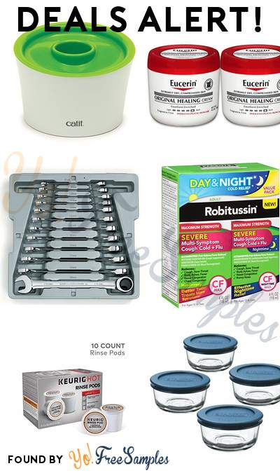 DEALS ALERT: Catit Multi Feeder, Eucerin Rich Lotion for Extremely Dry Skin 2 Pack, GearWrench 12 Piece Wrench Set, Robitussin Severe Day/Night Value Pack 2-Pack & More