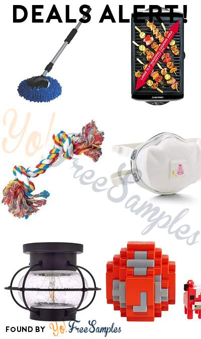 DEALS ALERT: AutoSpa Microfiber Wash Mop, Chefman Electric Smokeless Indoor Grill, Zanies Rope Bone Dog Toy, 3M Disposable Respirator Cup Mask & More