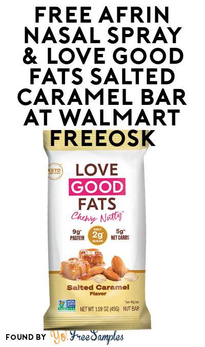 FREE Afrin Nasal Spray & Love Good Fats Salted Caramel Bar At Walmart Freeosk