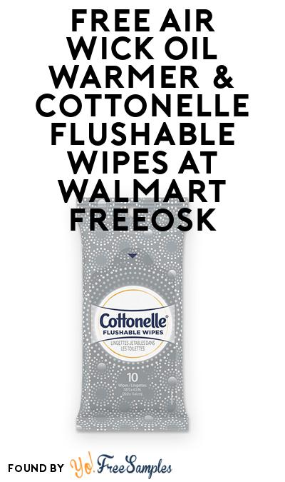 FREE Air Wick Oil Warmer & Cottonelle Flushable Wipes At Walmart Freeosk