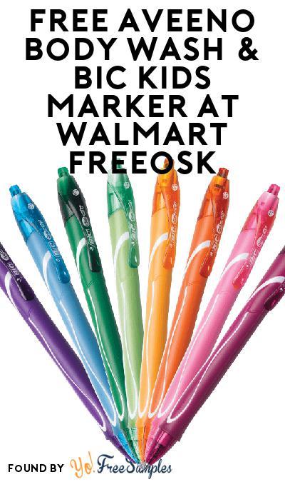 FREE Aveeno Body Wash & BIC Kids Marker At Walmart Freeosk