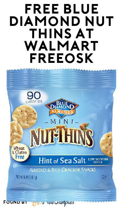 FREE Blue Diamond Nut Thins At Walmart Freeosk