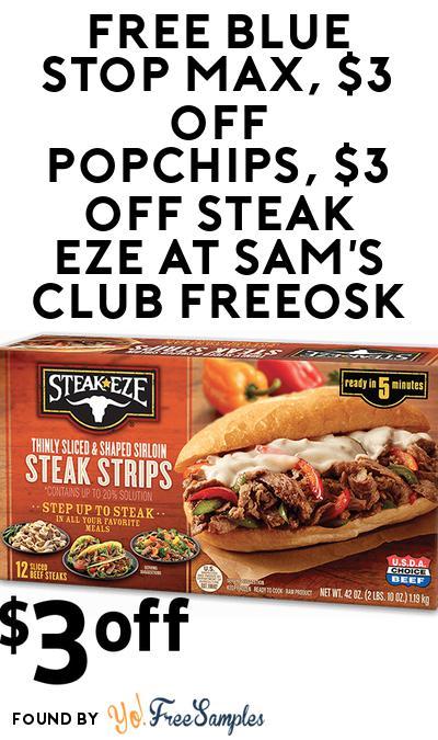 FREE Blue Stop Max At Sam's Club Freeosk