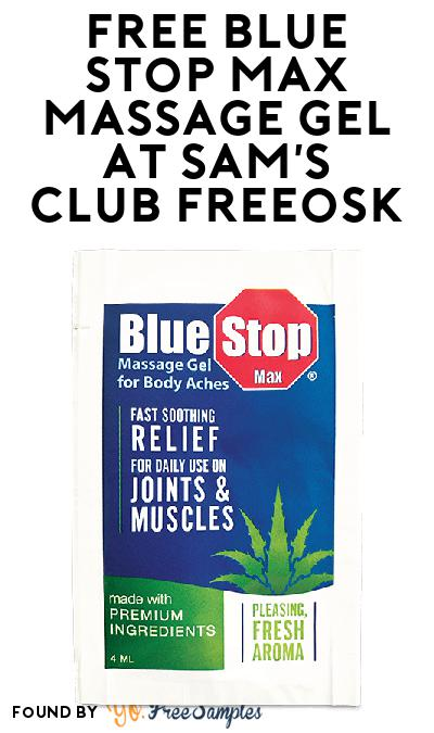 FREE Blue Stop Max Massage Gel At Sam's Club Freeosk