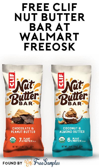 FREE CLIF Nut Butter Bar At Walmart Freeosk