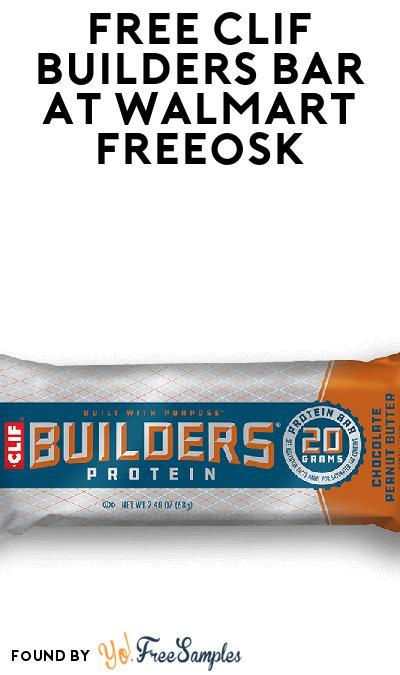 FREE CLIF BUILDERS Bar At Walmart Freeosk