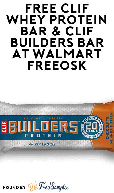 FREE CLIF Whey Protein Bar & CLIF BUILDERS Bar At Walmart Freeosk