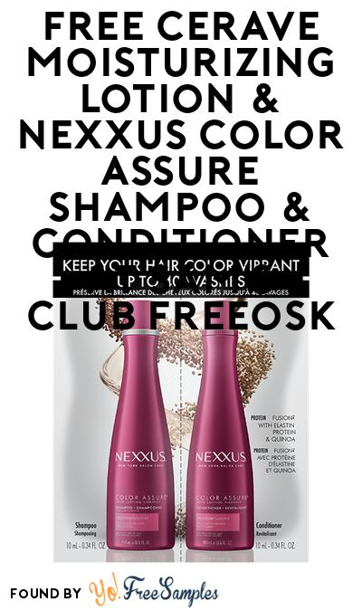 FREE CeraVe Moisturizing Lotion & Nexxus Color Assure Shampoo + Conditioner At Sam's Club Freeosk