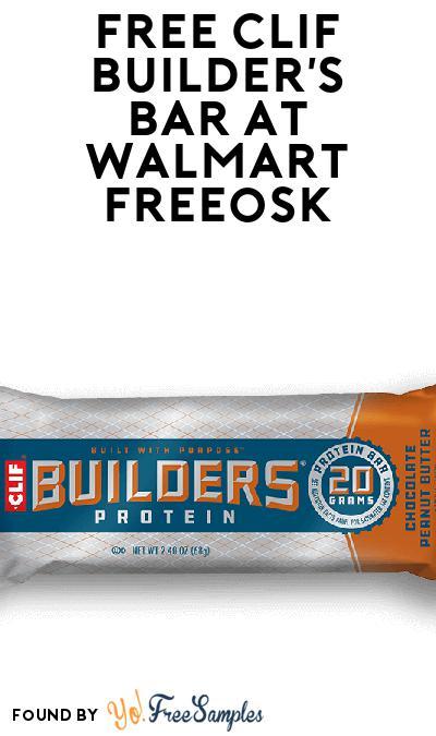 FREE Clif Builder's Bar At Walmart Freeosk