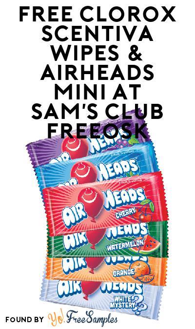 FREE Clorox Scentiva Wipes & Airheads Mini At Sam's Club Freeosk