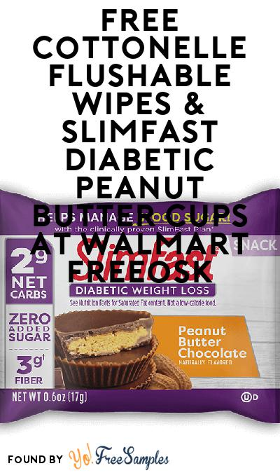 FREE Cottonelle Flushable Wipes & SlimFast Diabetic Peanut Butter Cups At Walmart Freeosk