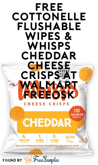FREE Cottonelle Flushable Wipes & Whisps Cheddar Cheese Crisps At Walmart Freeosk