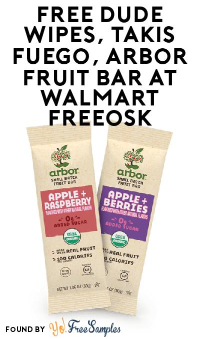 FREE DUDE Wipes, Takis Fuego, Arbor Fruit Bar At Walmart Freeosk