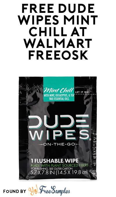FREE DUDE Wipes Mint Chill At Walmart Freeosk