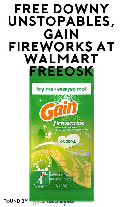 FREE Downy Unstopables, Gain Fireworks At Walmart Freeosk