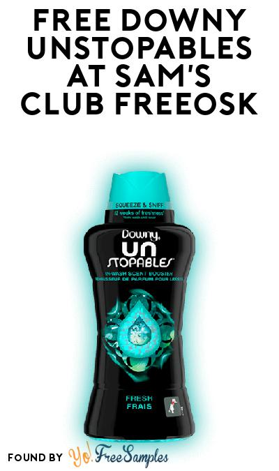 FREE Downy Unstopables At Sam's Club Freeosk