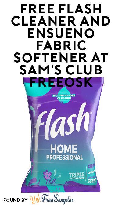 FREE Flash Cleaner and Ensueno Fabric Softener At Sam's Club Freeosk