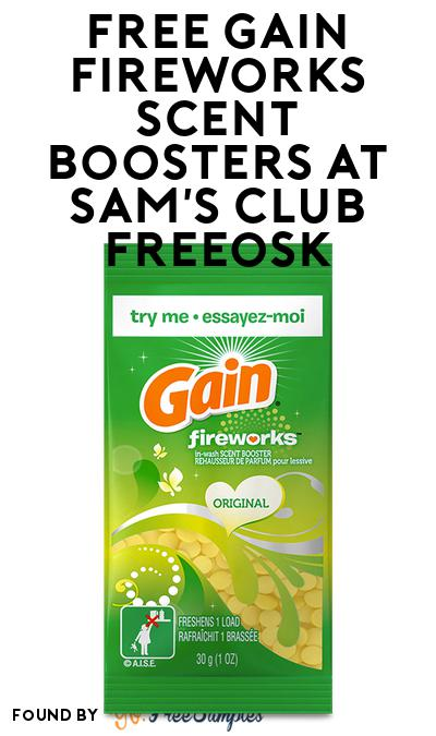 FREE Gain Fireworks Scent Boosters At Sam's Club Freeosk