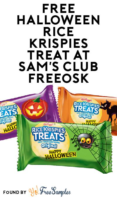 FREE Halloween Rice Krispies Treat At Sam's Club Freeosk