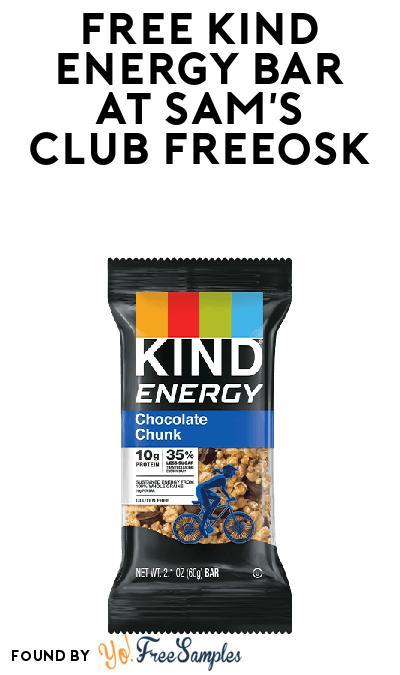 FREE KIND Energy Bar At Sam's Club Freeosk