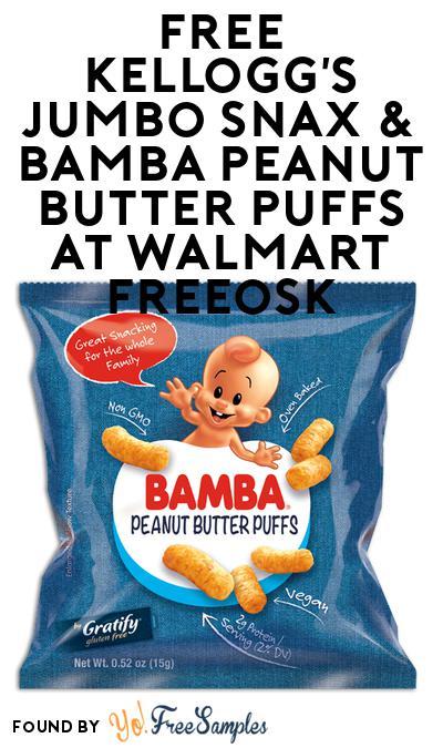 FREE Kellogg's Jumbo Snax & Bamba Peanut Butter Puffs At Walmart Freeosk