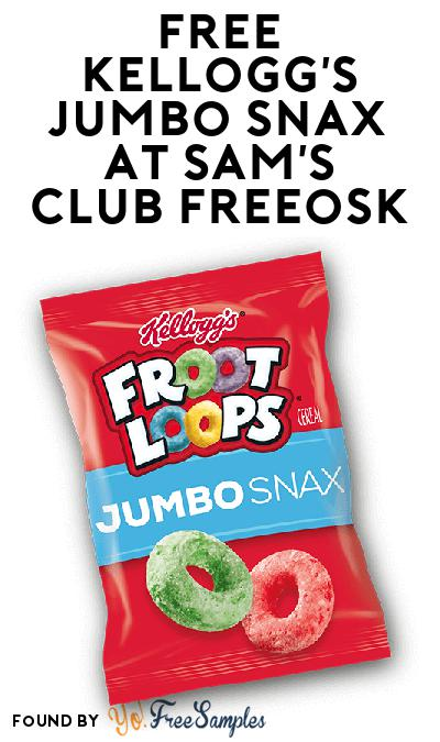 FREE Kellogg's Jumbo Snax At Sam's Club Freeosk
