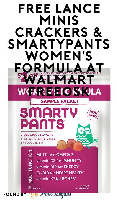 FREE Lance Minis Crackers & SmartyPants Women's Formula At Walmart Freeosk