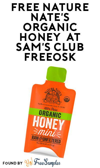 FREE Nature Nate's Organic Honey At Sam's Club Freeosk