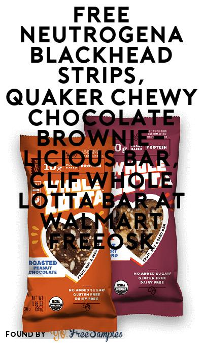 FREE Neutrogena Blackhead Strips, Quaker Chewy Chocolate Brownie-licious Bar & CLIF Whole Lotta Bar At Walmart Freeosk