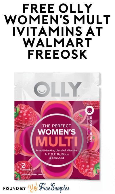 FREE Olly Women's Multivitamins At Walmart Freeosk