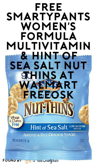 FREE SmartyPants Women's Formula Multivitamin & Hint of Sea Salt Nut Thins At Walmart Freeosk