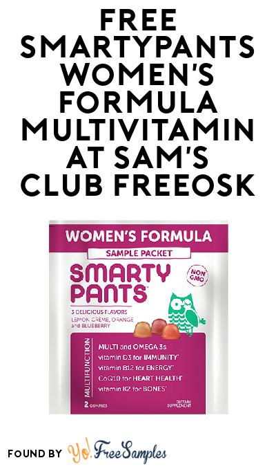 FREE SmartyPants Women's Formula Multivitamin At Sam's Club Freeosk