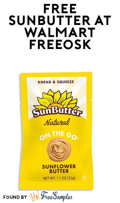 FREE Sunbutter At Walmart Freeosk