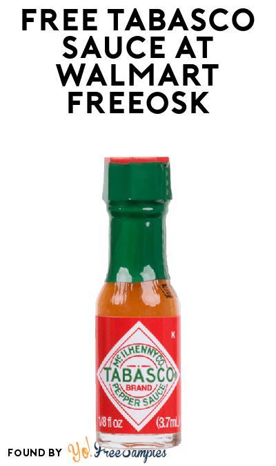 FREE TABASCO Sauce At Walmart Freeosk