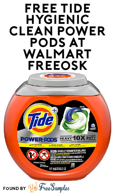 FREE Tide Hygienic Clean Power Pods At Walmart Freeosk