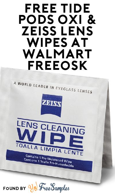 FREE Tide PODS OXI & ZEISS Lens Wipes At Walmart Freeosk