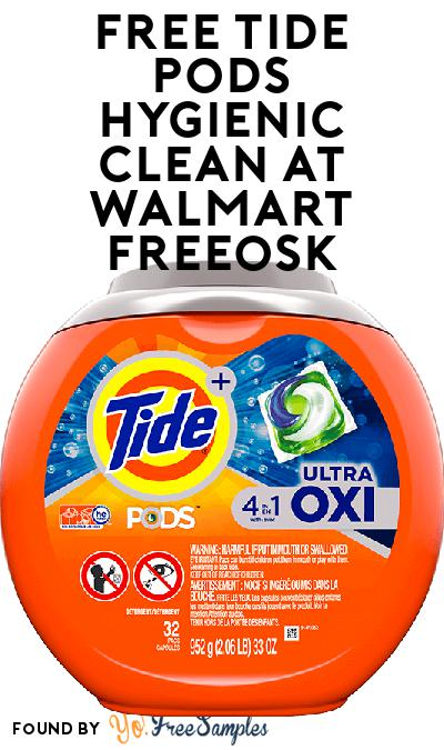 FREE Tide Pods Hygienic Clean At Walmart Freeosk