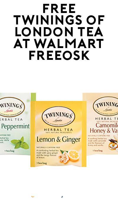 FREE Twinings of London Tea At Walmart Freeosk