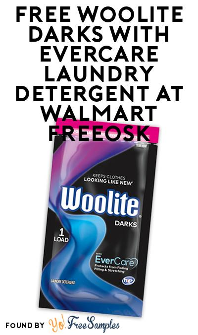 FREE Woolite Darks with EverCare Laundry Detergent At Walmart Freeosk
