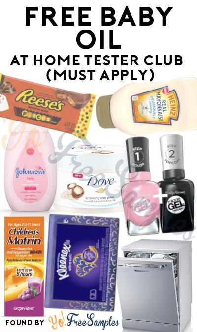 FREE Baby Oil At Home Tester Club (Must Apply)
