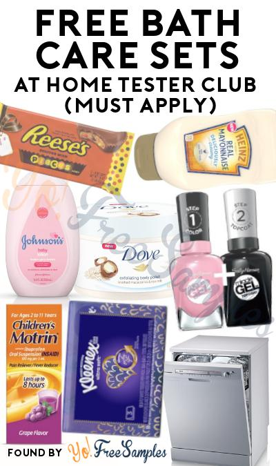FREE Bath Care Sets At Home Tester Club (Must Apply)