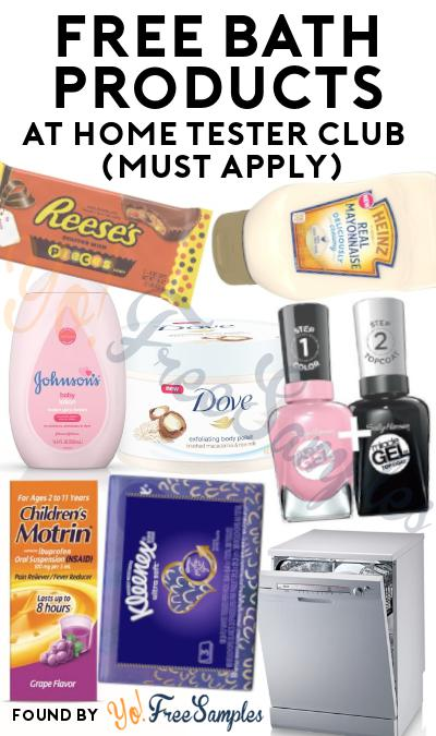 FREE Unilever Bath Products At Home Tester Club (Must Apply)