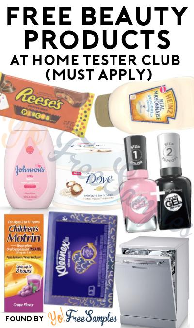 FREE Beauty Products At Home Tester Club (Must Apply)