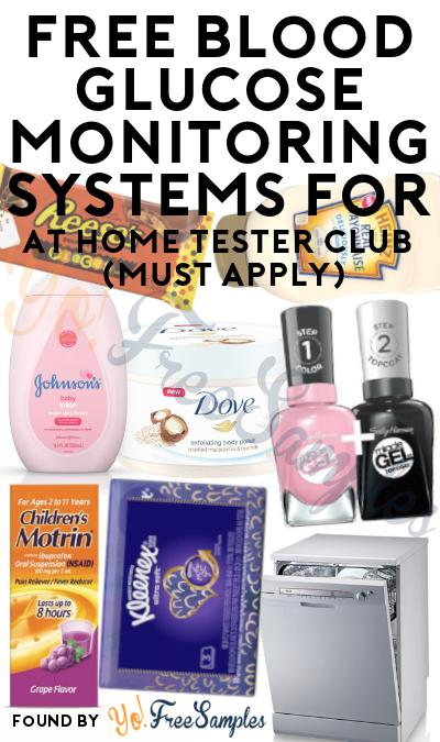 FREE Blood Glucose Monitoring Systems For At Home Tester Club (Must Apply)
