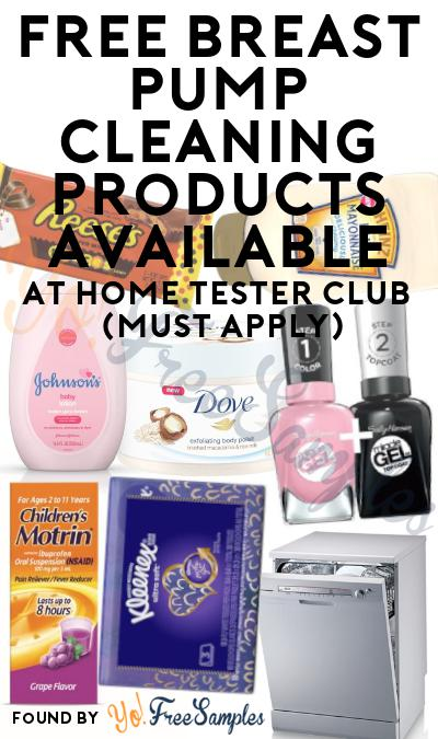 FREE Breast Pump Cleaning Products Available At Home Tester Club (Must Apply)