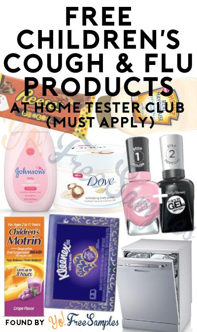 FREE Children's Cough & Flu Products At Home Tester Club (Must Apply)