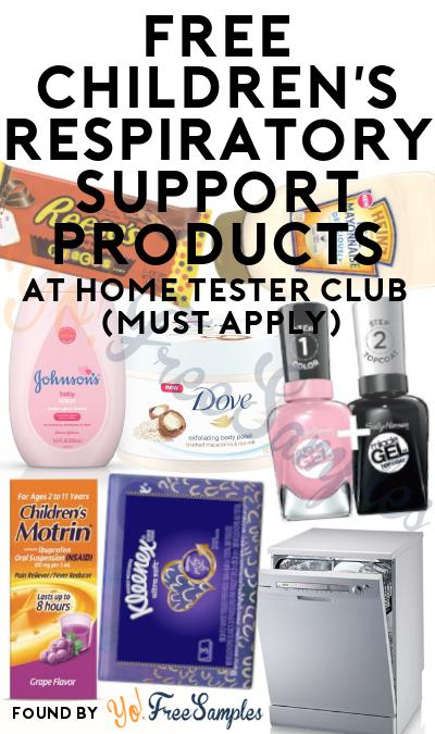 FREE Children's Respiratory Support Products At Home Tester Club (Must Apply)